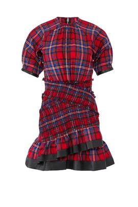 Plaid Nicole Dress by Tanya Taylor