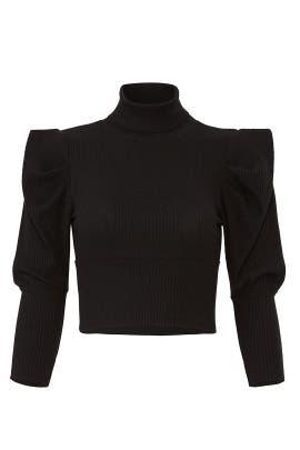Black Lala Knit Crop Top by Free People