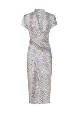 Python Printed Faux Wrap Dress by Great Jones