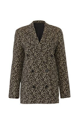 Leopard Double Breasted Blazer by The Kooples
