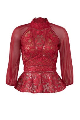 Chiffon Sleeve Top by Marchesa Notte