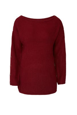 Odette Nursing Maternity Sweater by NOM Maternity