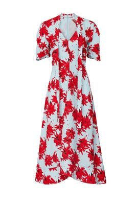 Floral Neck Tie Dress by Proenza Schouler