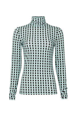Check Print Long Sleeve Turtleneck by Proenza Schouler White Label