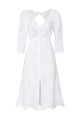 Terri Embroidered V-Neck Dress by Rebecca Taylor