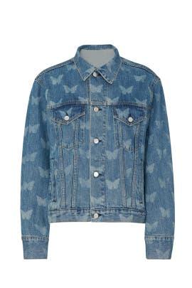 Morpho Denim Jacket by Sandy Liang