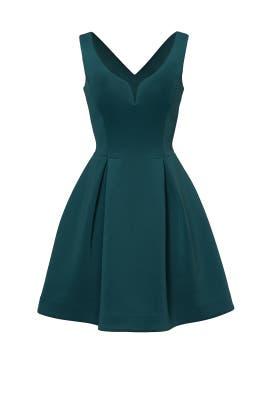 Hunter Green Petal Dress by Slate & Willow