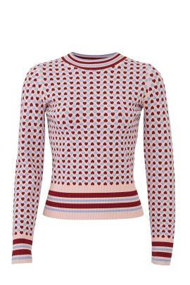 Heart Print Sweater by Tara Jarmon