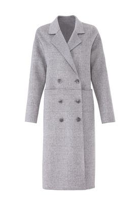 Grey Plaid Amy Coat by Trina Turk