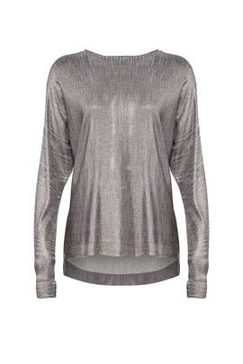 Foil Gunmetal Sweater by Halston Heritage