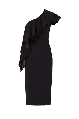 Black Fresno Ruffle Dress by Jay Godfrey