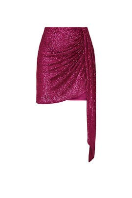 Sequin Drape Mini Skirt by Jonathan Simkhai