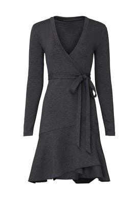 Grey Wrap Dress by Nicole Miller