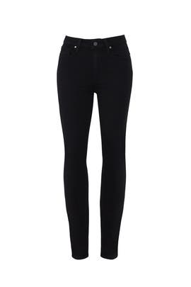 Black Hoxton Ankle Jeans by PAIGE