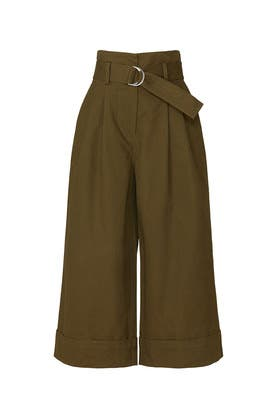 Green Paper Bag Pants by Adam Lippes Collective