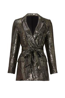 Gold Sequin Blazer by Badgley Mischka