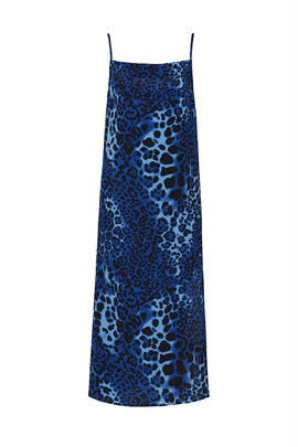 Blue Leopard Slip Maxi by Nightcap