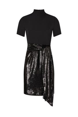 Black Sequin Dress by Toccin