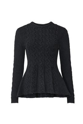 Grey Peplum Sweater by Jason Wu Collective