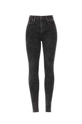 Grey Mile High Super Skinny Jeans by Levi's