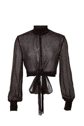 Sheer Ditsy Rose Blouse by Nicholas