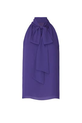 Violet Tie Neck Blouse by Prabal Gurung Collective