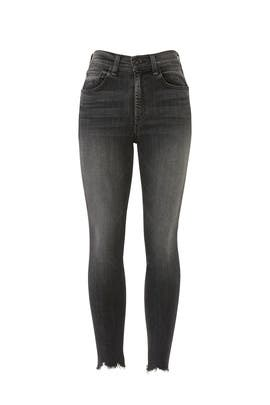 Grey High Rise Ankle Skinny Jeans by rag & bone JEAN