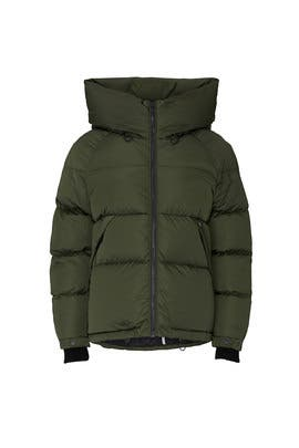 Green Sylivana Puffer Coat by SOIA & KYO