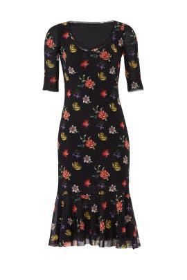 Floral Printed Midi Dress by Fuzzi