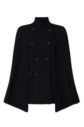 Double Breasted Cape Coat by Great Jones