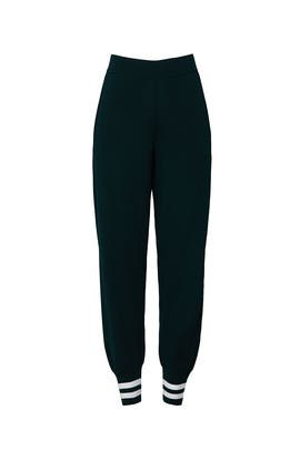 Dark Green Arctic Track Pants by LNDR