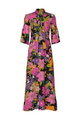 Printed Scarf Dress by Patou