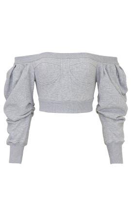 Cropped Off the Shoulder Sweatshirt by Philosophy di Lorenzo Serafini