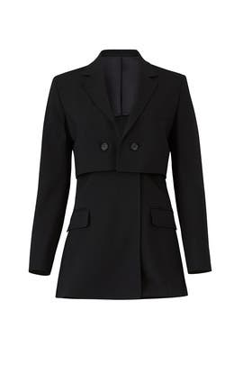 Black Tiered Blazer by 3.1 Phillip Lim
