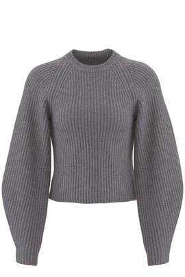 Sculpted Sleeve Crew Sweater by Theory