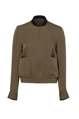 Green Baharah Bomber Jacket by Theory