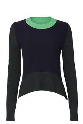 Three Tone Colorblock Sweater by Tome