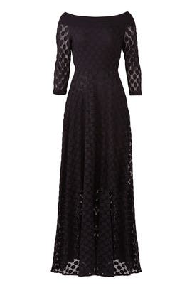 Black Dot Gown by Fuzzi