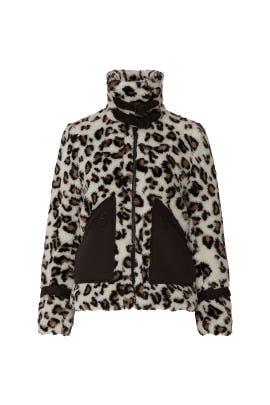 Leopard Faux Sherpa Jacket by Jonathan Simkhai