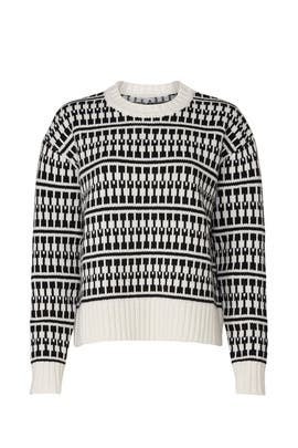 Graphic Sweater by Jason Wu