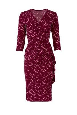 Pink Dot Ruffle Sheath by Leota
