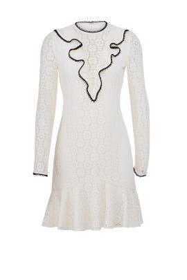 Ivory Lace Dress by ML Monique Lhuillier