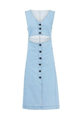 Denim Cut Out Dress by See by Chloe