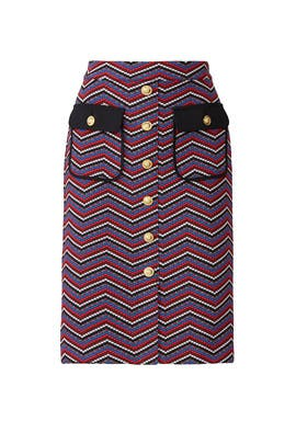 Chevron Button Skirt by Slate & Willow