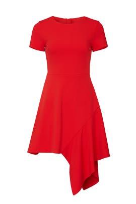 Red Drape Hem Dress by Slate & Willow