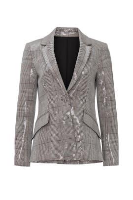 Sequin Plaid Jacket by Badgley Mischka