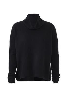 Draped Mock Neck Sweater by BROWN ALLAN