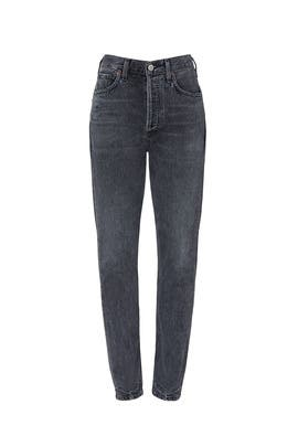 Grayscale Rigid High Rise Straight Charlotte Jeans by Citizens Of Humanity