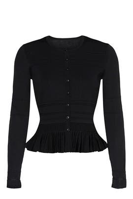 Black Peplum Cardigan by Jason Wu Collective