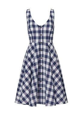 Gingham Flare Dress by Slate & Willow